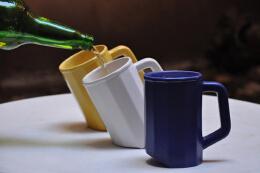 减少泡沫产生啤酒杯,创意杯子