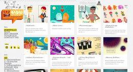 独一无二的,充满着插画家本身的风格!网站设计欣赏
