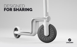 Unicorn踏板车工业设计和品牌VI设计