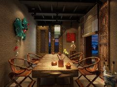 幽兰古色古香的茶馆装修设计欣赏