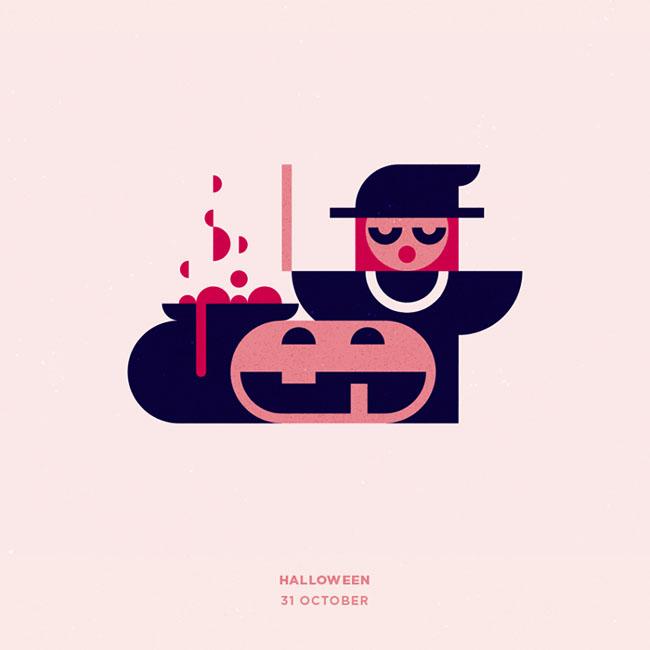 俄罗斯设计师Konstantin假日主题插图设计欣赏