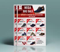鞋类促销传单设计欣赏