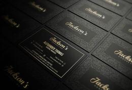 24款精致的金色的英文名片设计欣赏