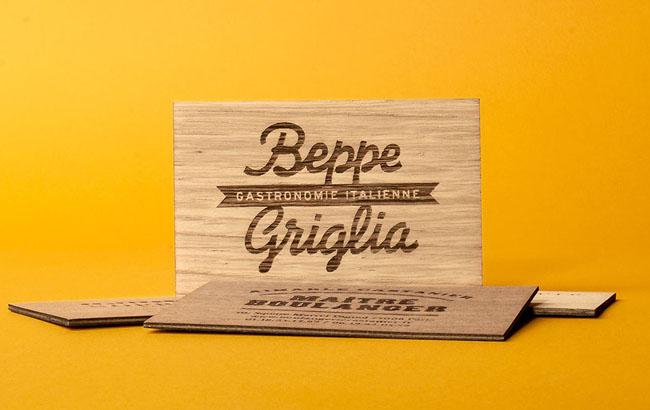 法国Nicolo Giacomin木质名片设计作品