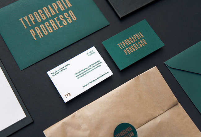 一组国外高档精致的餐厅品牌形象设计欣赏