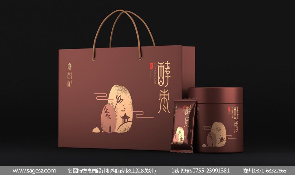 红枣礼盒包装设计 红酵枣包装设计 保健食品包装设计