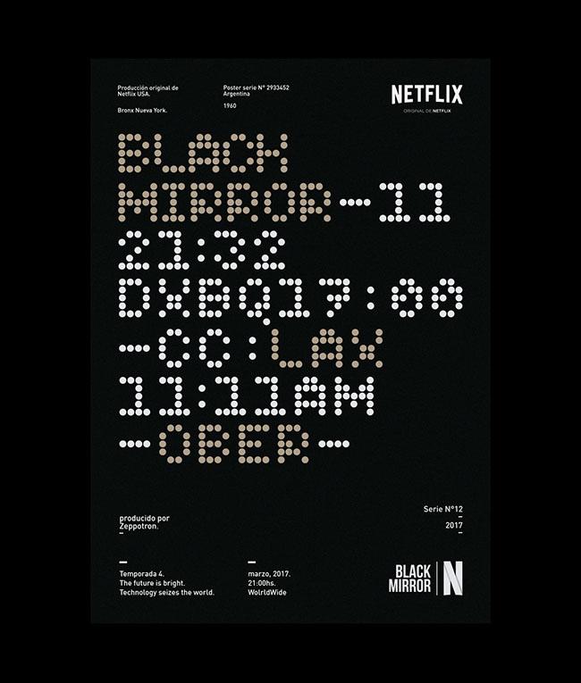国外Netflix系列海报版面设计作品