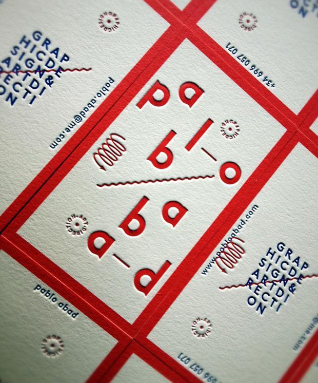 西班牙Pablo Abad个人凸版名片设计