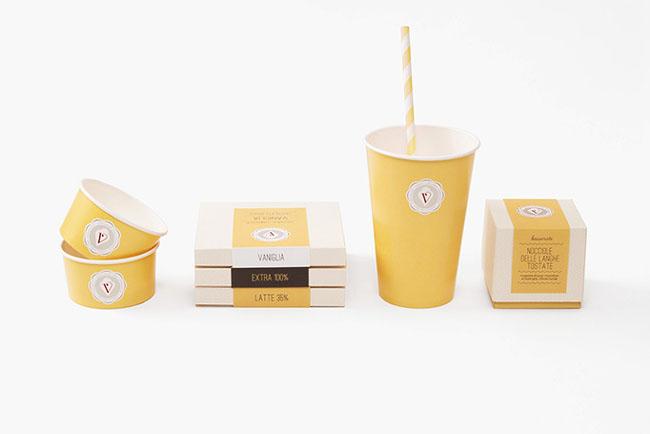 Vanilla Milano冰淇淋店品牌形象设计