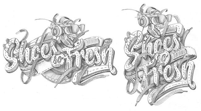 酷炫的运动主题字体设计案例欣赏