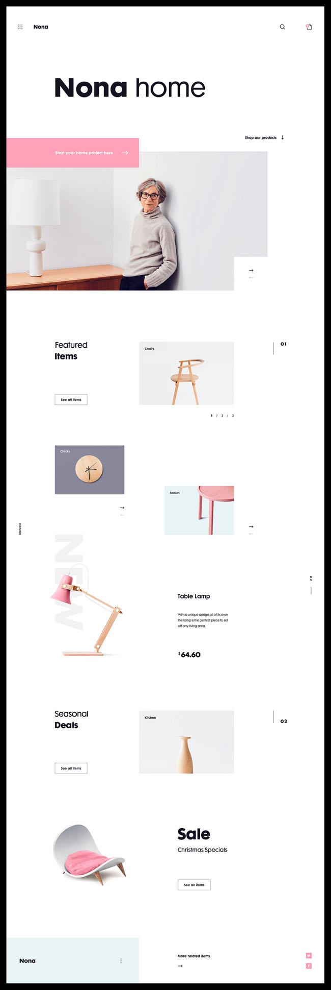 国外Nona Home家装商城网页设计作品