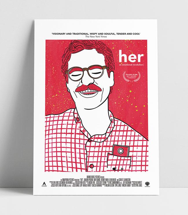 Her系列海报设计作品