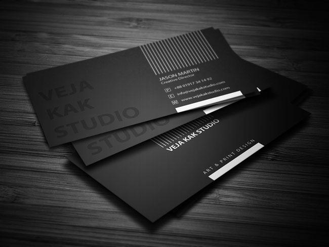 国外Veja Kak工作室商务名片模版设计