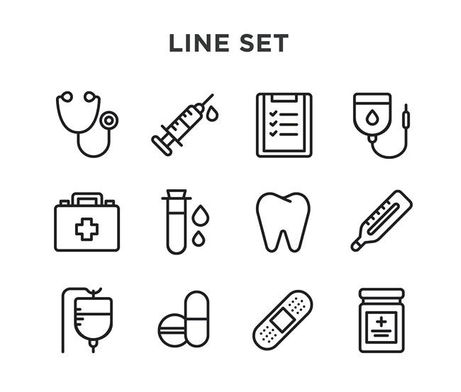 一组医学图标设计作品