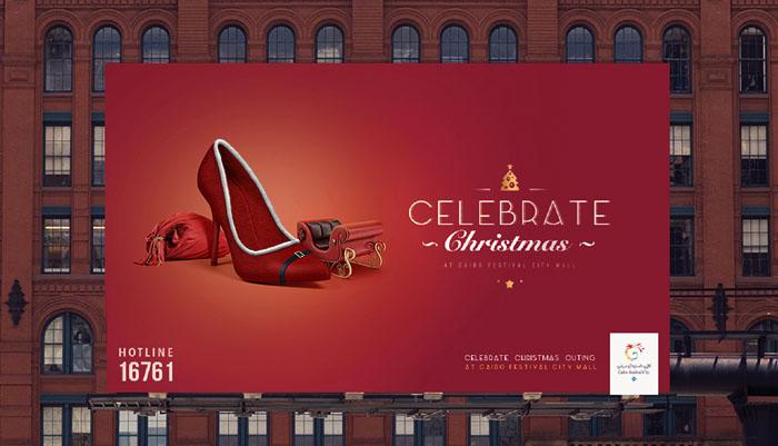 Cairo Festival City购物中心圣诞平面广告