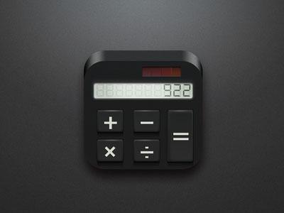 24款立体感十足的计算器图标设计作品欣赏