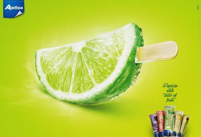 Ajellso水果雪糕系列创意平面广告作品