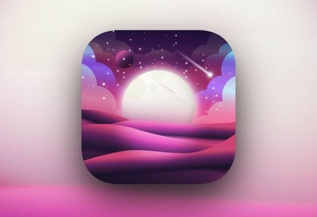 Walli app漂亮的风景图标设计作品
