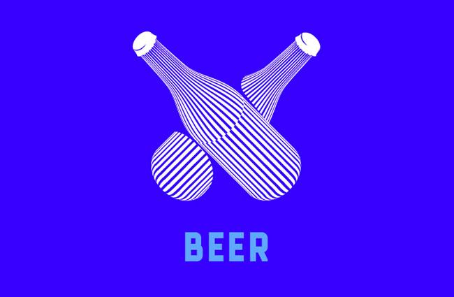 24张条纹式食品饮料餐饮图标设计欣赏