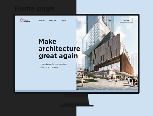 简约的国外建筑师个人网页设计欣赏