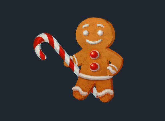 国外萌萌的圣诞主题图标设计作品