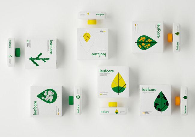 Leafcare植物护理产品系列包装设计作品