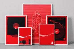 可口可乐音乐主题创意海报设计作品