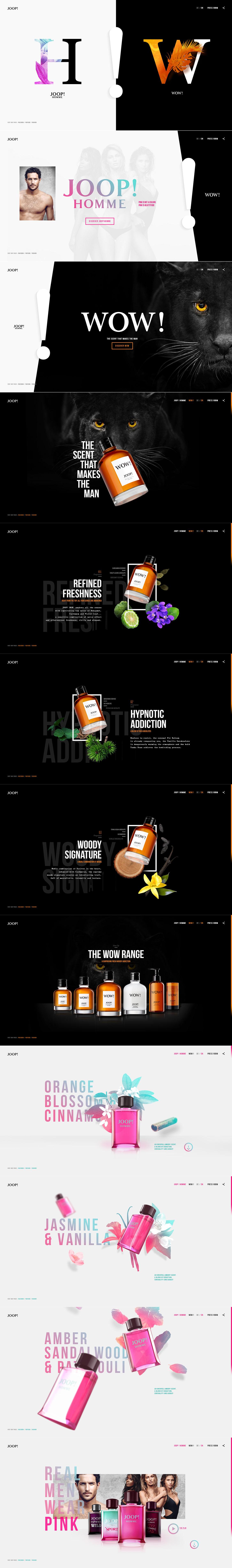 国外Joop fragrances香水产品网站设计欣赏