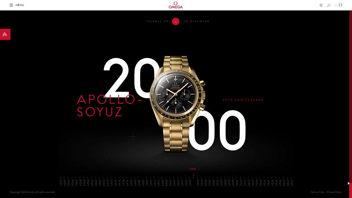 OMEGA欧米茄手表60周年历史回顾网站设计