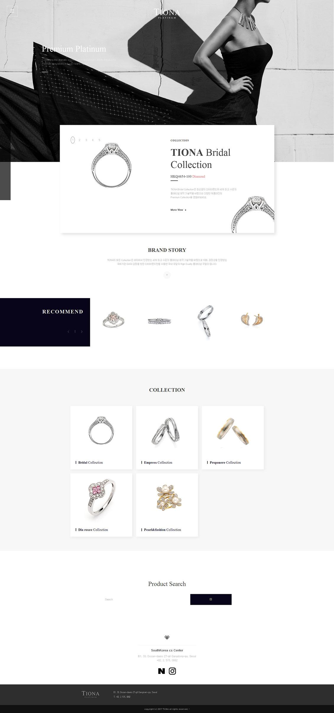 国外tiona钻石珠宝戒指首饰网站设计