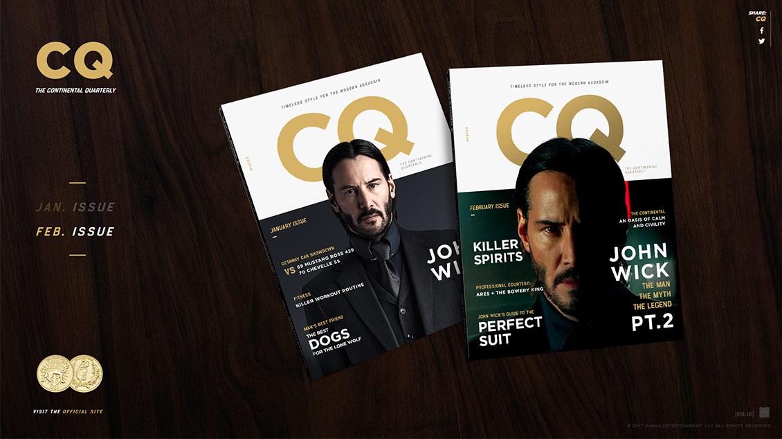 国外CQ时尚杂志网站设计