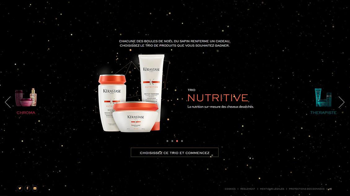 卡诗美妆彩妆化妆品圣诞节专题网站设计