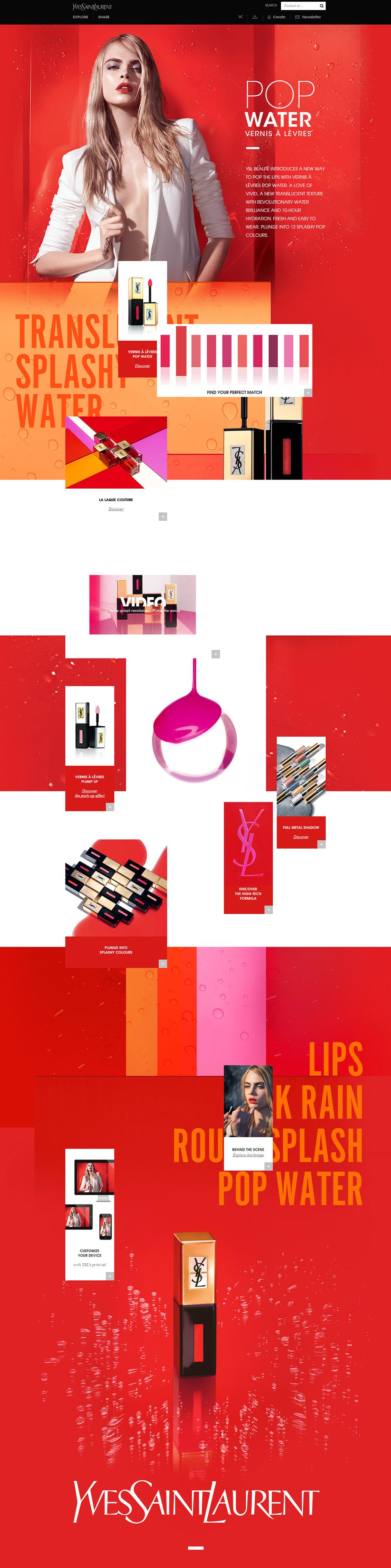 国外yslbeauty化妆品专题网站设计(二)