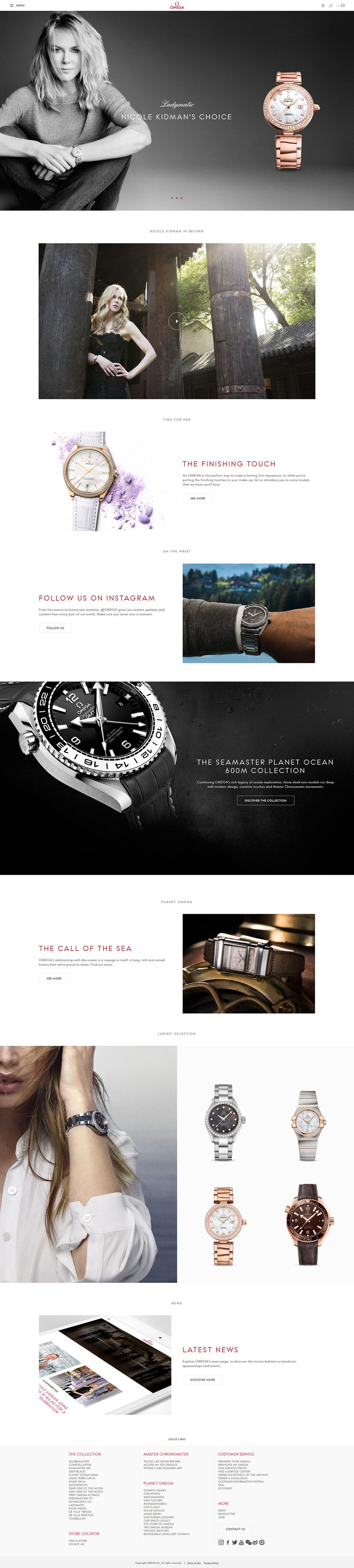 国外omega欧米茄手表网站设计