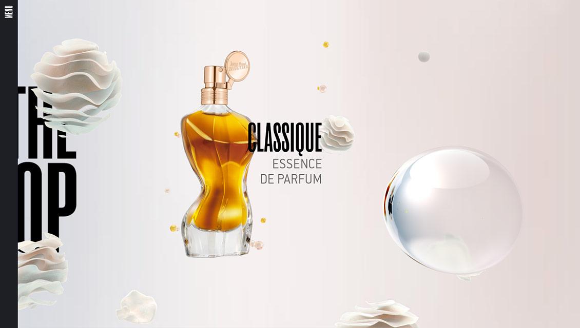 国外Jean Paul Gaultier精华香水时尚网站设计