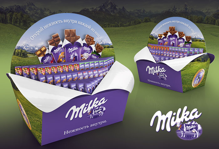 牛奶品牌创意堆头设计作品