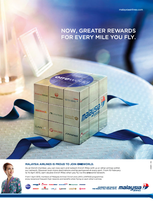 马来西亚航空公司平面创意广告设计作品