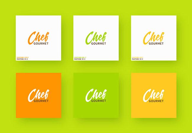 国外Chef Gourmet餐厅色彩明亮的品牌VI设计作品