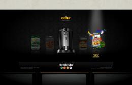 喜力啤酒网页界面设计