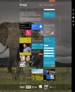 Windows8风格网页排版布局设计 扁平化网页设计