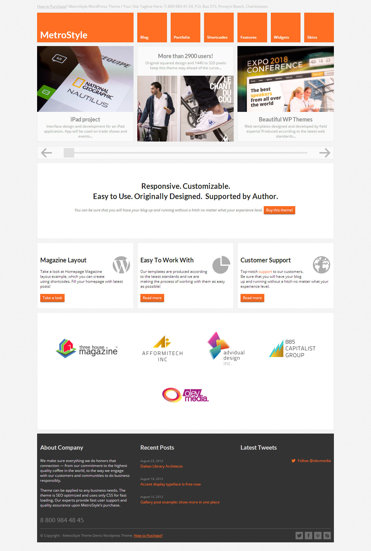 Metro风格的主体网页设计欣赏