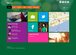 Metro风格网页界面设计