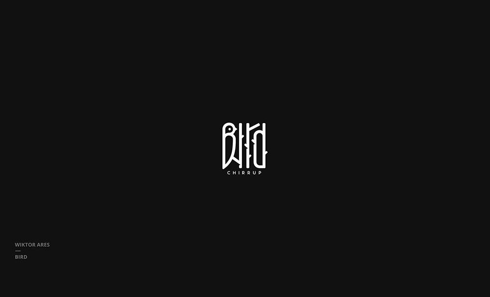 黑白世界!16款单色图形Logo设计