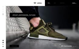 国外adidas NMD时尚鞋子商城购物网页设计欣赏