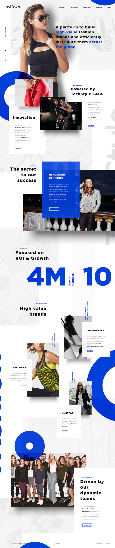 国外TechSyle时尚服装网页设计欣赏