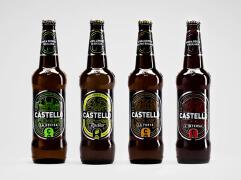 国外Castello啤酒瓶贴标签设计欣赏