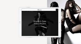 国外艺人Rihanna官方时尚网页设计欣赏