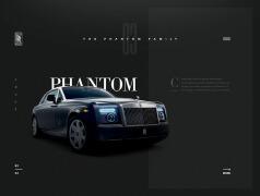 劳斯莱斯汽车品牌网页设计欣赏
