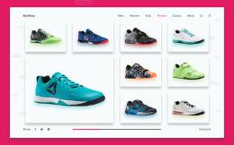 国外简约风格的RunShop网店网页设计欣赏