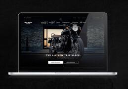 国外Triumph摩托车网页设计欣赏